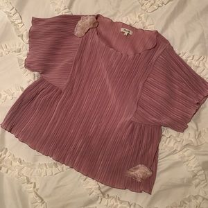 Pink Madewell Short Sleeve Blouse - Size L